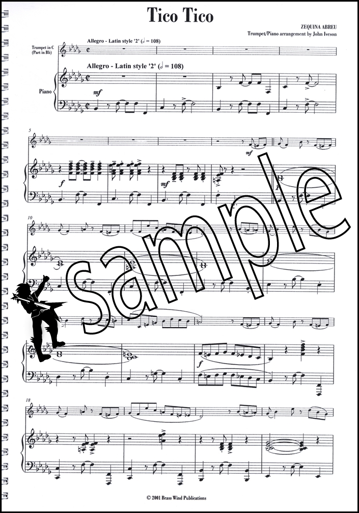Piano piano and trumpet duet sheet music : Tico Tico for Trumpet Abreu | Hamcor