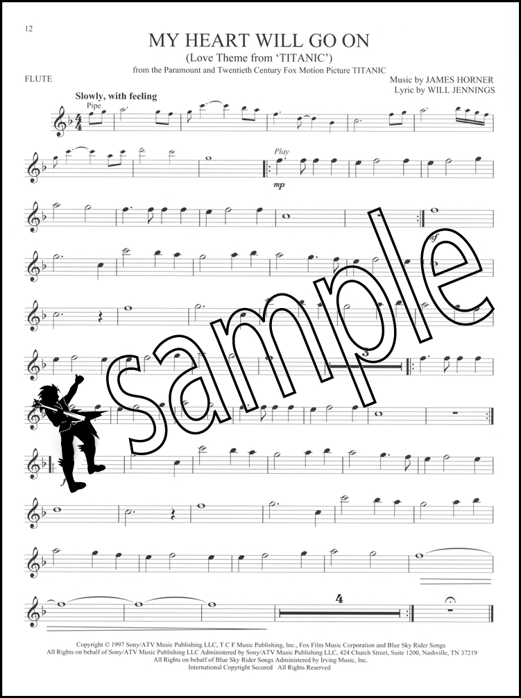 Great Movie Themes for Flute Instrumental Play-Along Sheet Music ...