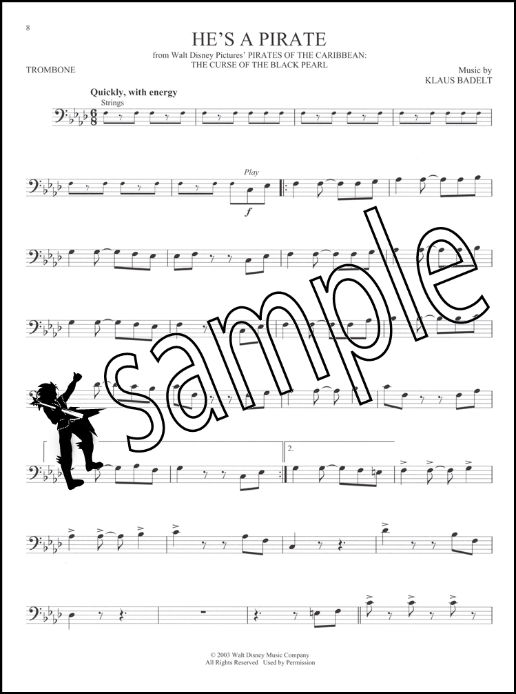 great movie themes for trombone instrumental play along sheet music book audio ebay. Black Bedroom Furniture Sets. Home Design Ideas