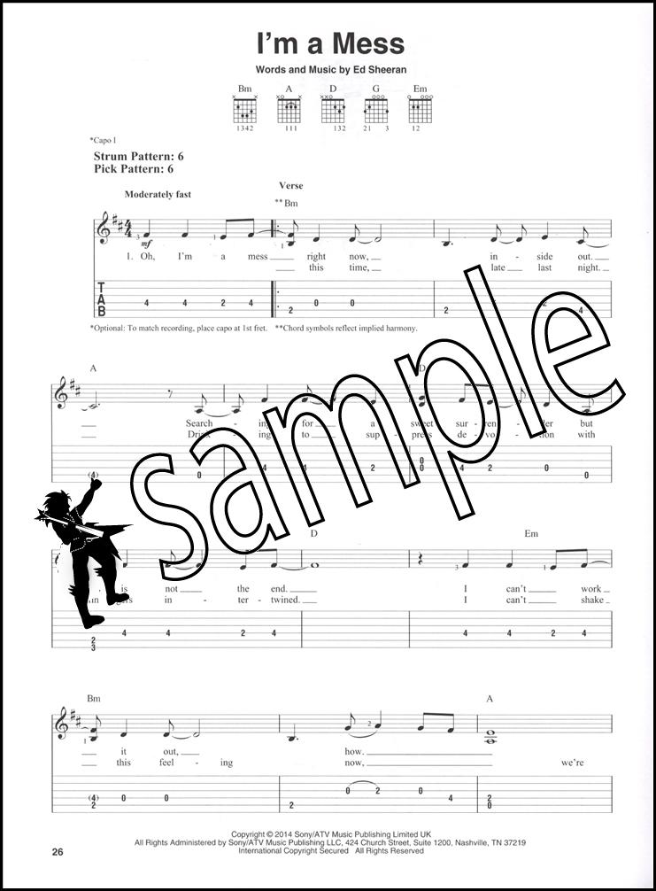 Ed Sheeran For Easy Guitar Tab Sheet Music Book A Team Sing