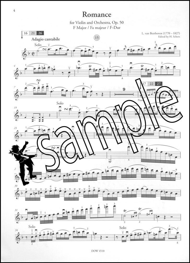 All Music Chords beethoven sheet music : Ludwig Van Beethoven Two Romances for Violin Op 40 50 Sheet Music ...
