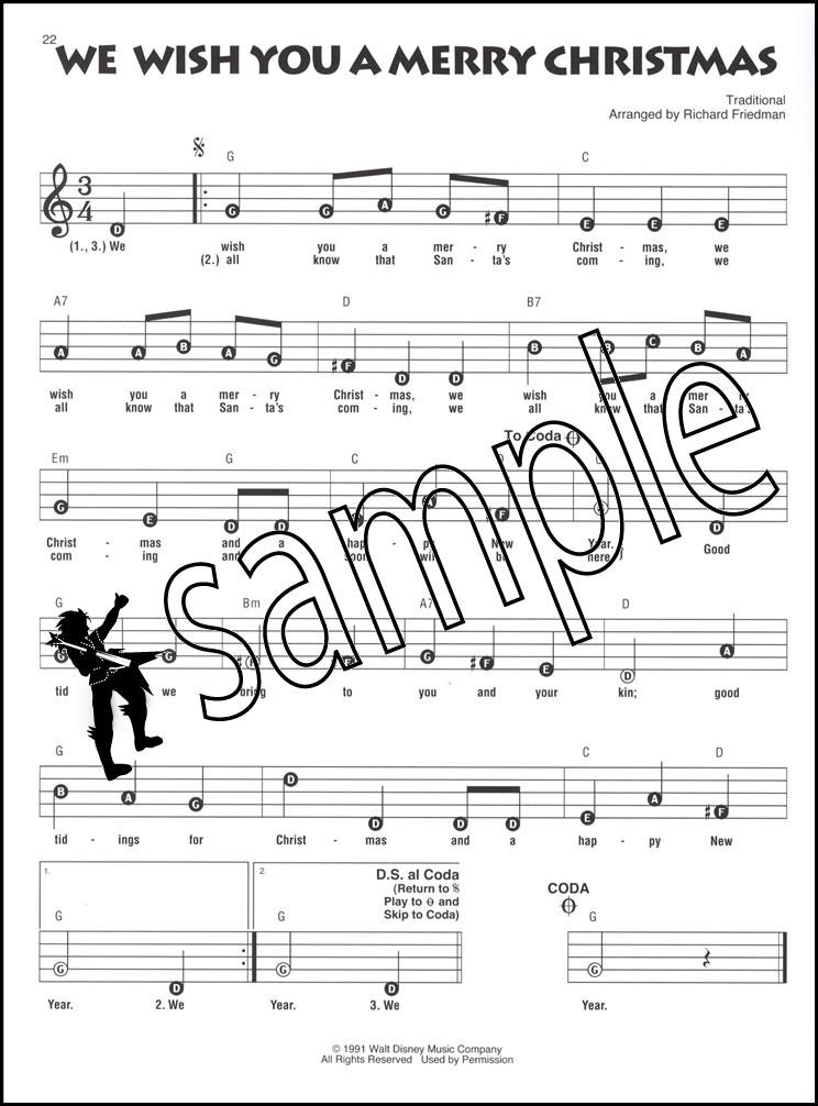 Christmas with Disney Recorder Fun Sheet Music Book | eBay