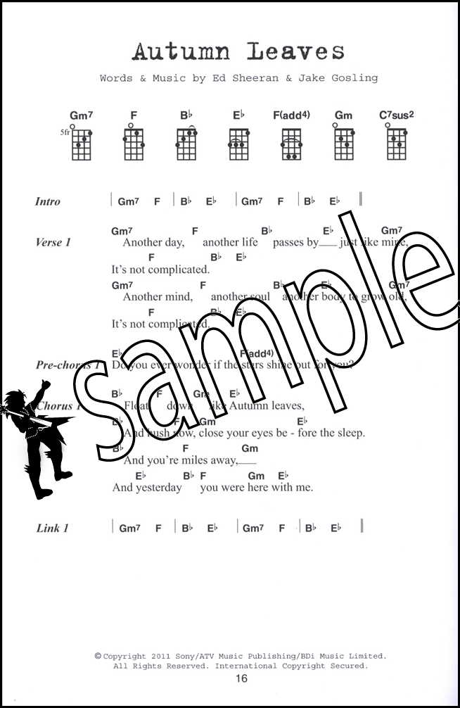 Ed Sheeran Ukulele Chord Songbook X Plus Multiply A Team Sing