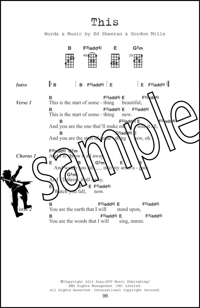 Ed Sheeran Ukulele Chord Songbook Hamcor