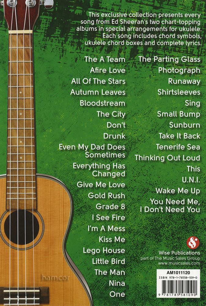 Ed Sheeran Ukulele Chord Songbook | Hamcor
