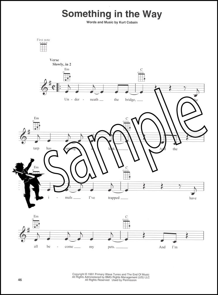 Nirvana for Ukulele Sheet Music Book Chord Boxes Sliver Sappy Dumb ...