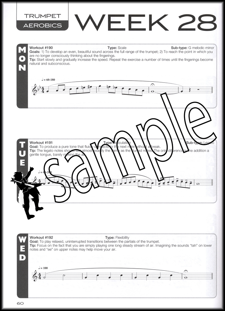 Trumpet Aerobics Sheet Music BookAudio  Exercises  Week