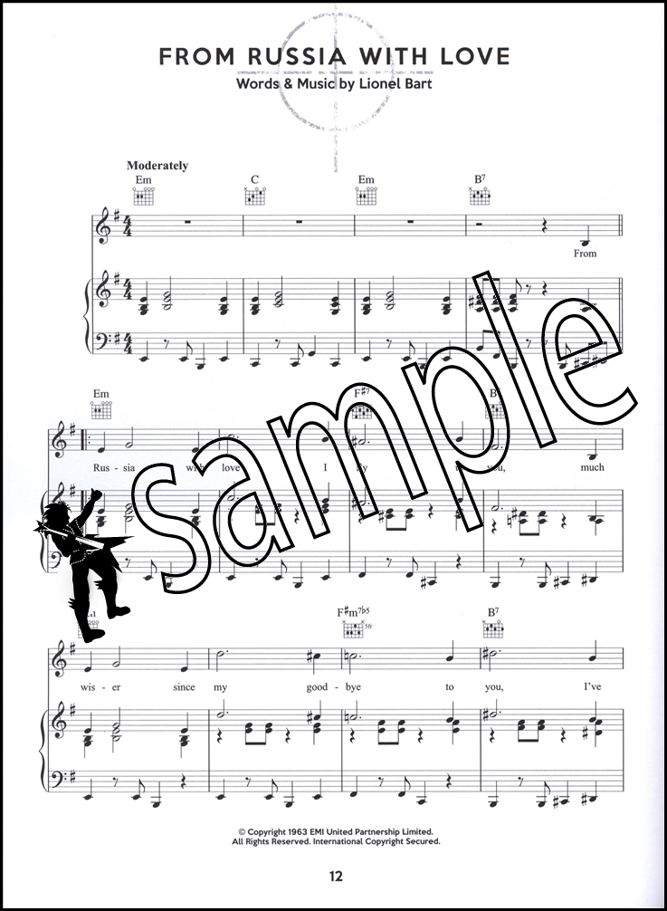 The Ultimate James Bond Collection Piano Vocal Guitar Sheet Music