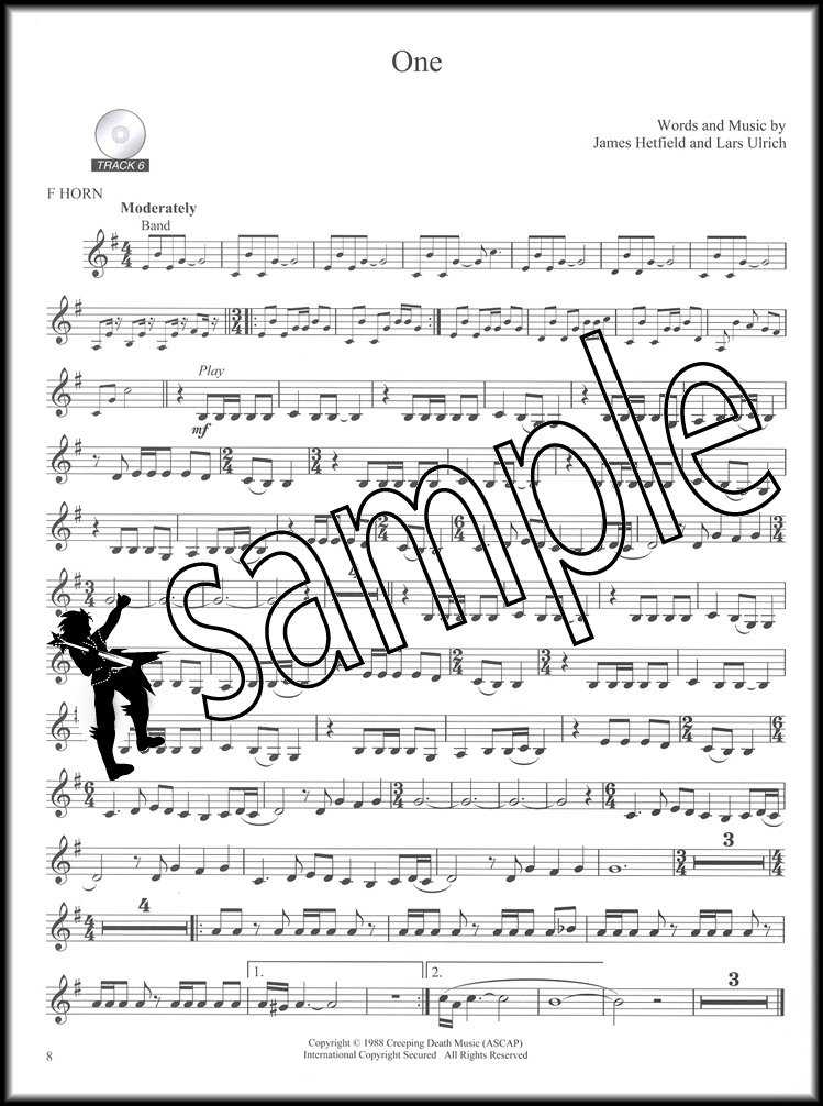 All Music Chords french horn sheet music : Best of Metallica for F French Horn Play Along Sheet Music Book/CD ...