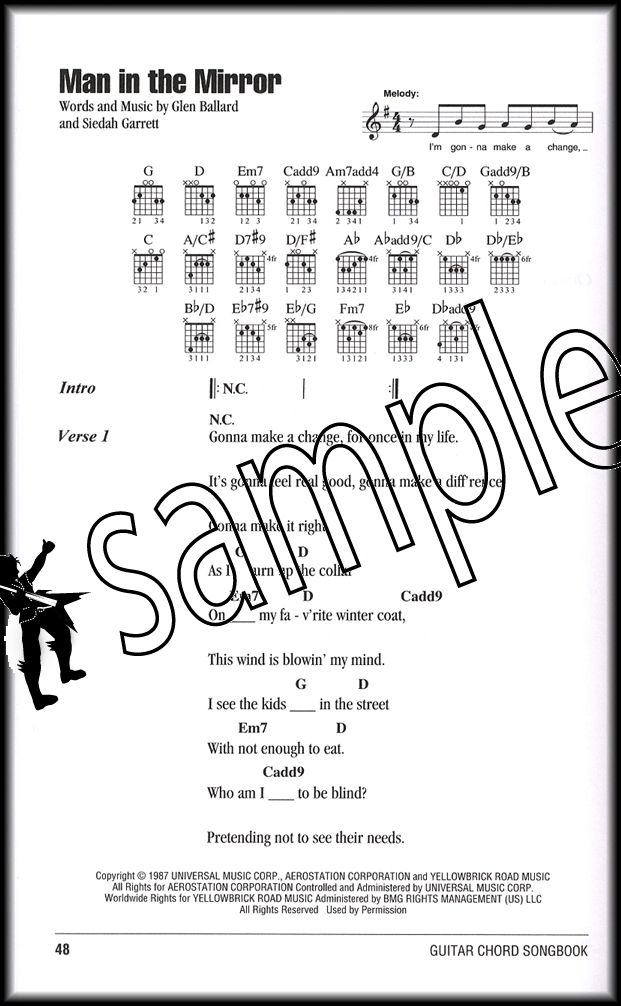 Michael Jackson Guitar Chord Songbook | Hamcor
