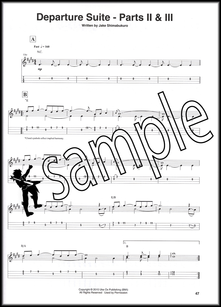 Jake Shimabukuro Travels Ukulele Transcriptions TAB Sheet Music Book ...