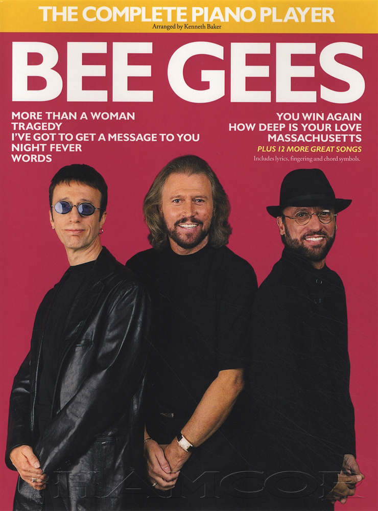 The Complete Piano Player Bee Gees Sheet Music Book 20 Songs Chords