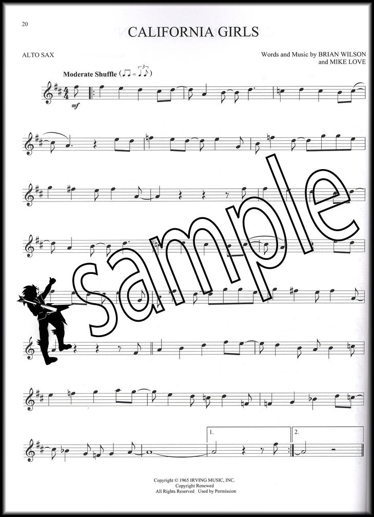 All Music Chords saxophone solo sheet music : 100 Greatest Songs of Rock & Roll for Alto Sax | Hamcor