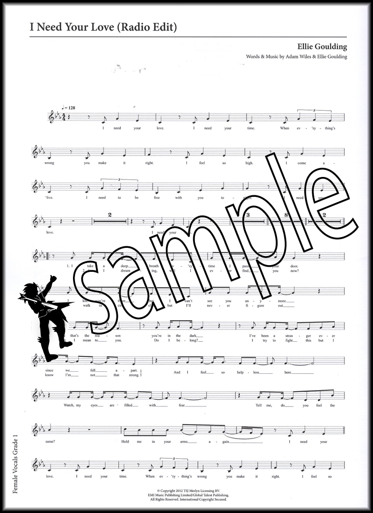 Piano somewhere only we know piano sheet music : Rockschool Vocals Female Grade 1 Book/Audio | Hamcor