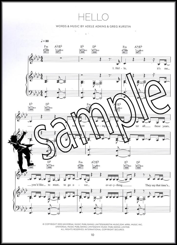 Piano hello piano sheet music : Adele 25 Piano Vocal Guitar Sheet Music Book Hello Million Years ...
