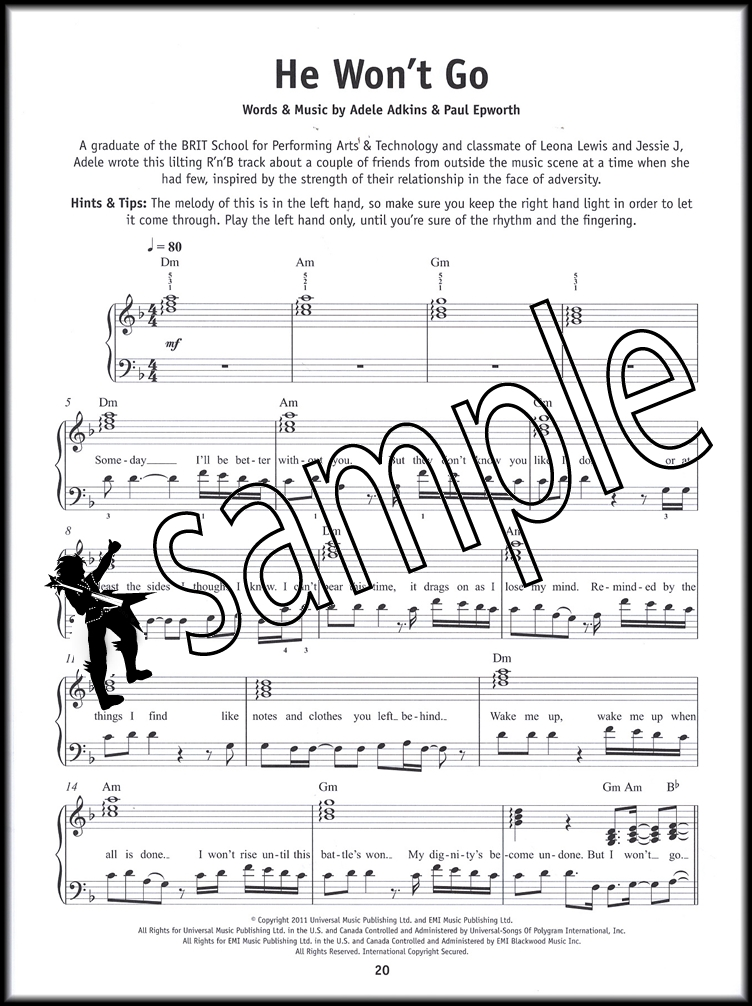 Piano hello piano sheet music : Really Easy Piano Adele Sheet Music Book Selections from 25 21 19 ...