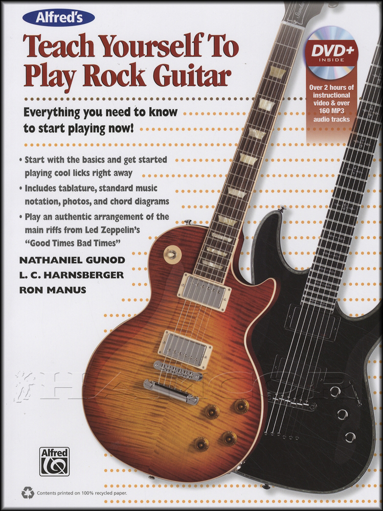 Teach Yourself to Play Rock Guitar Book/DVD | Hamcor