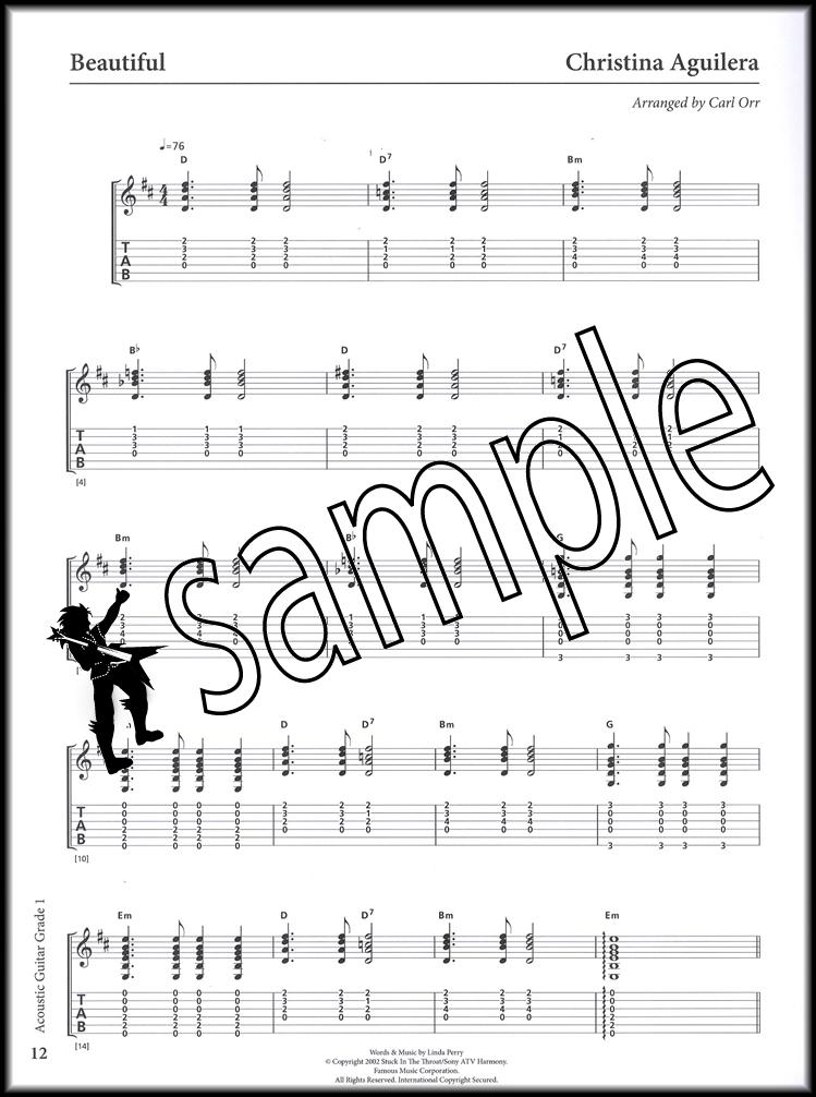 Rockschool Acoustic Guitar Grade 1 TAB Music Book with Audio Access ...