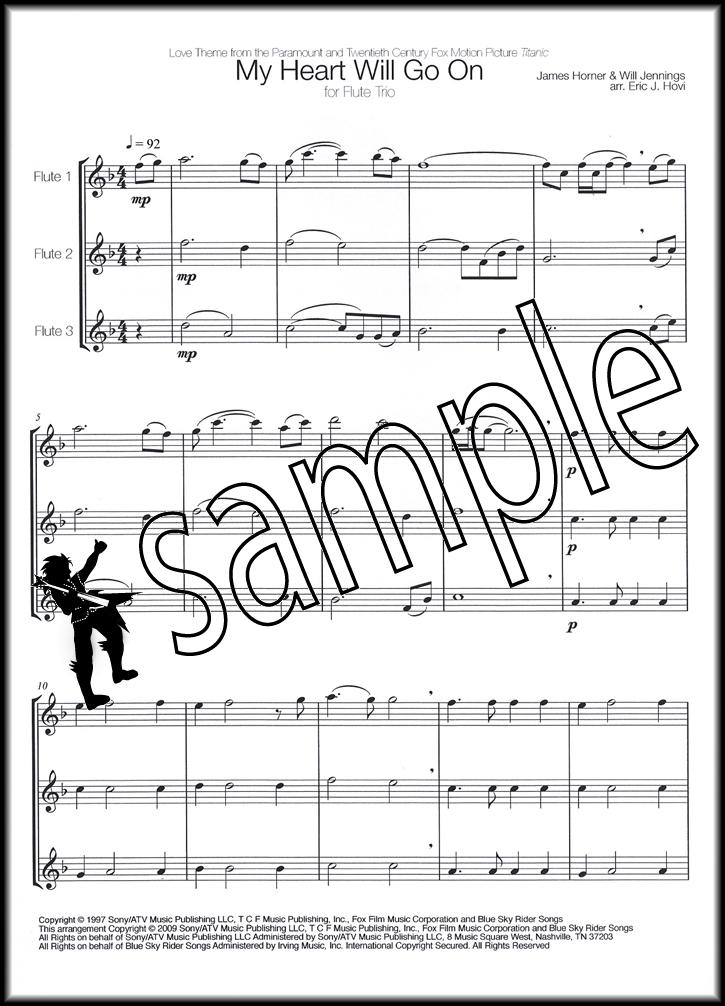 All Music Chords my heart will go on sheet music : James Horner My Heart Will Go On for Flute Trio Sheet Music Book ...