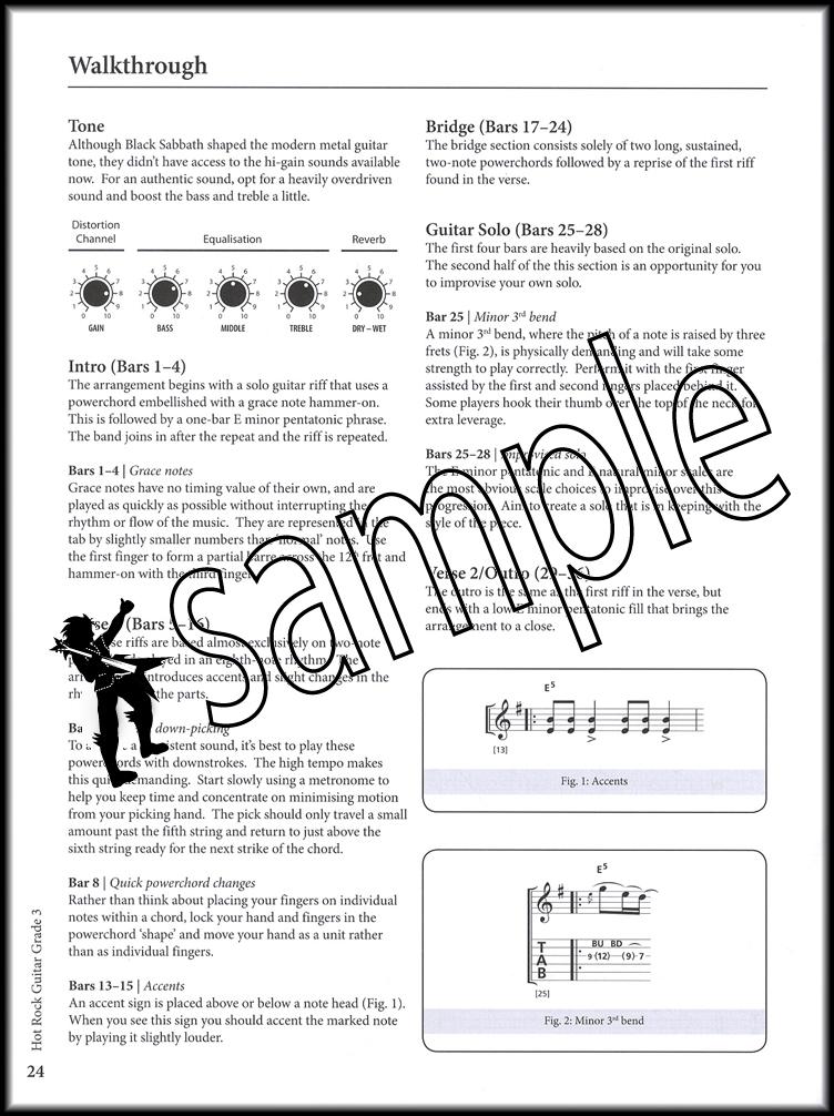 Rockschool Guitar Hot Rock Grade 3 Bookaudio Hamcor
