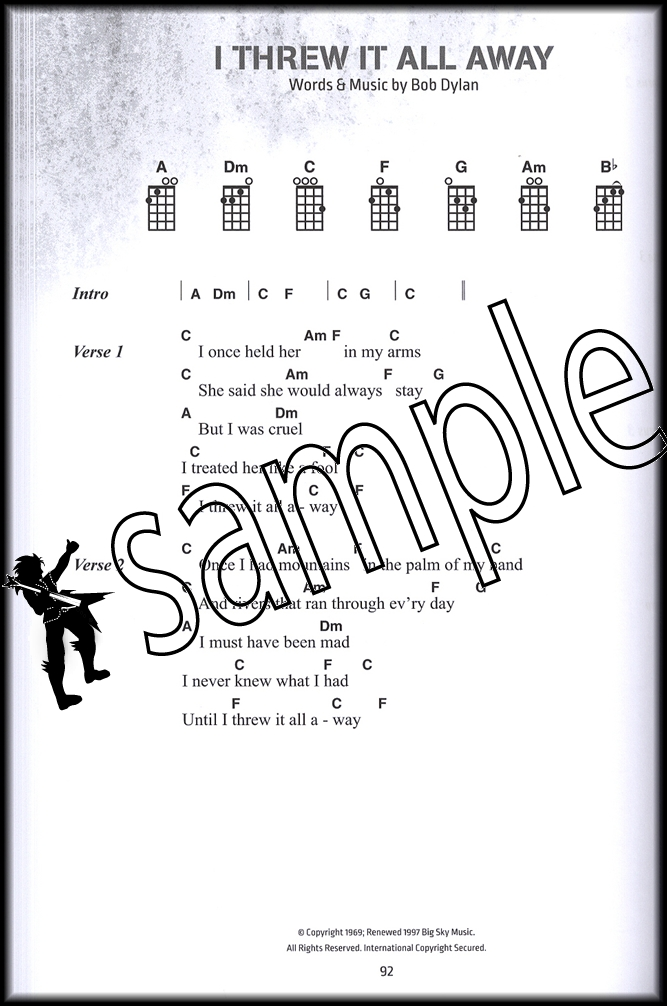Bob Dylan Ukulele Chord Songbook 100 Classics With Full Lyrics And
