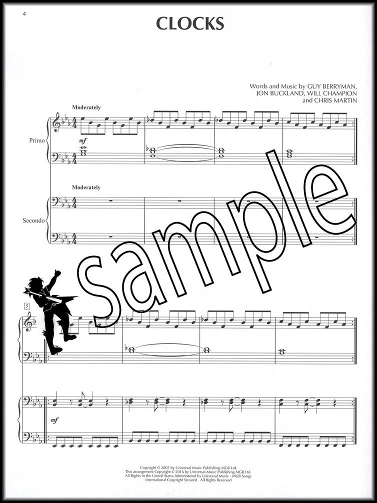 Enchanting Clocks Coldplay Chords Piano Ornament - Song Chords ...