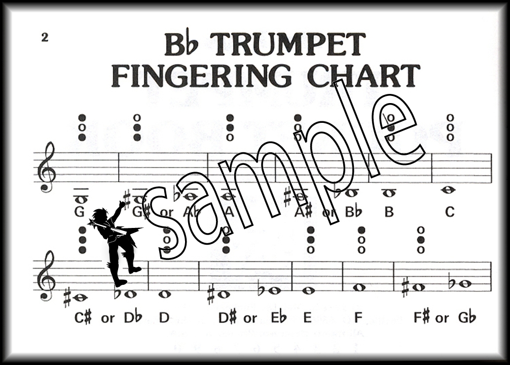 Music Pocketbook Trumpet Sheet Music Book Fingering Chart Solos