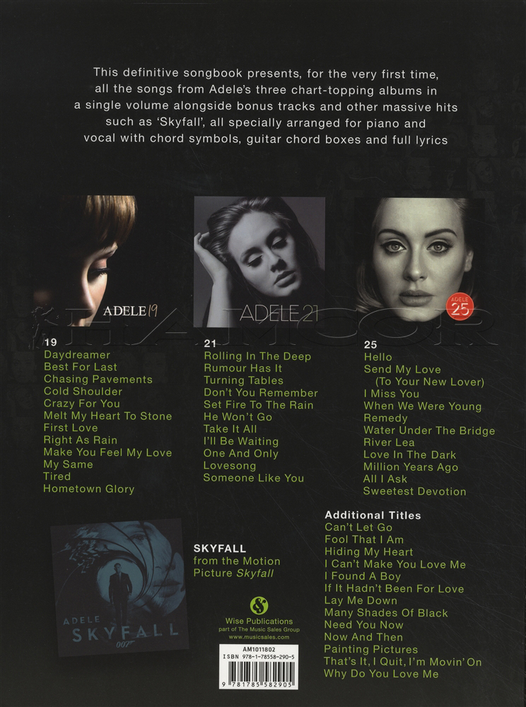 Lyric adele someone like you lyrics : Adele The Complete Collection PVG | Hamcor