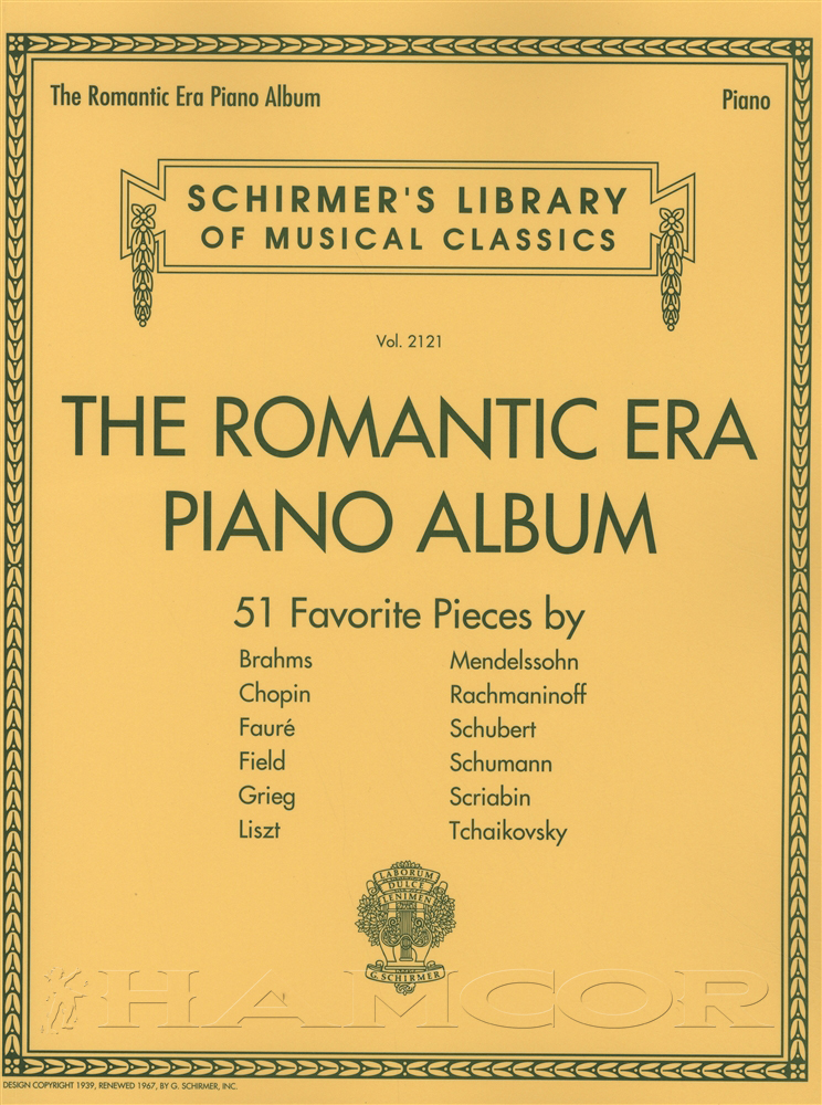 All Music Chords grieg wedding day at troldhaugen sheet music : The Romantic Era Piano Album Classical Sheet Music Book Schirmer's ...