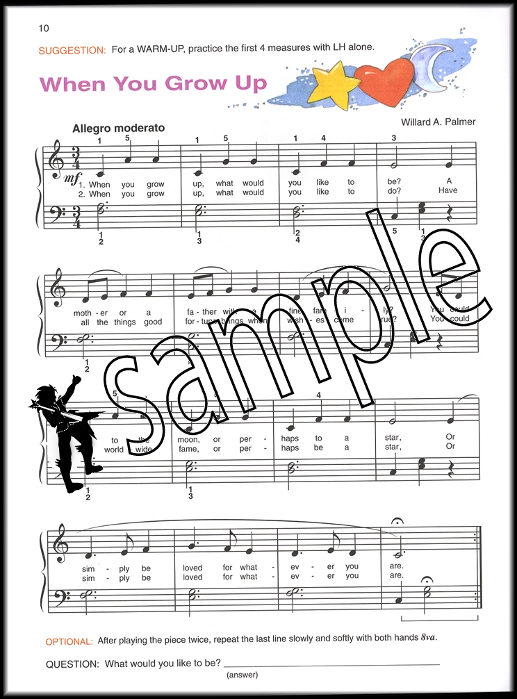Piano sheet music for beginners piano : Alfred's Basic Piano Library Lesson Book Level 2 Book Only | Hamcor