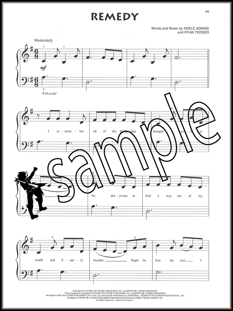 Piano beginning piano sheet music : Adele for Beginning Piano Solo | Hamcor