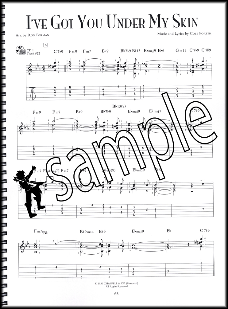 Jazz Guitar Standards Chord Melody Solos TAB Music Book with Audio ...