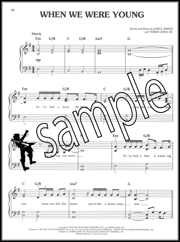 Piano hello piano sheet music : Adele Easy Piano Play-Along Sheet Music Book with Audio Access 19 ...