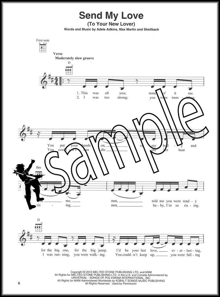 Adele 25 For Ukulele Chord Melody Songbook With Lyrics Hello