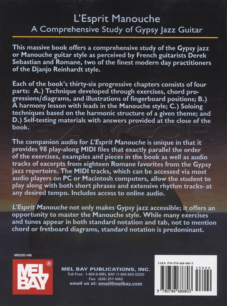 Lesprit Manouche Gypsy Jazz Guitar Bookaudio Hamcor