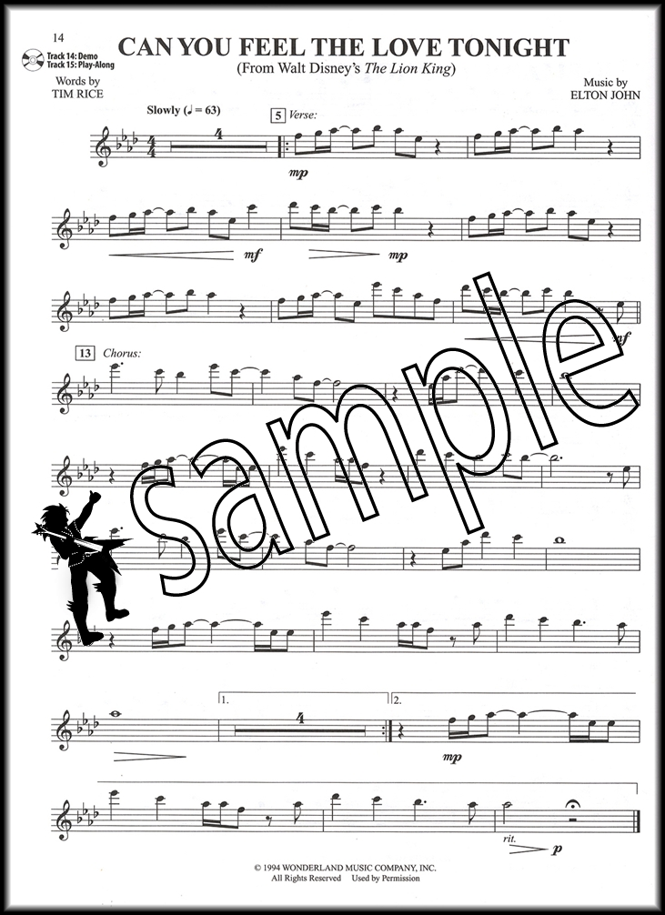 All Music Chords can you feel the love tonight sheet music : Top Hits from TV, Movies & Musicals Flute Sheet Music Book & CD ...
