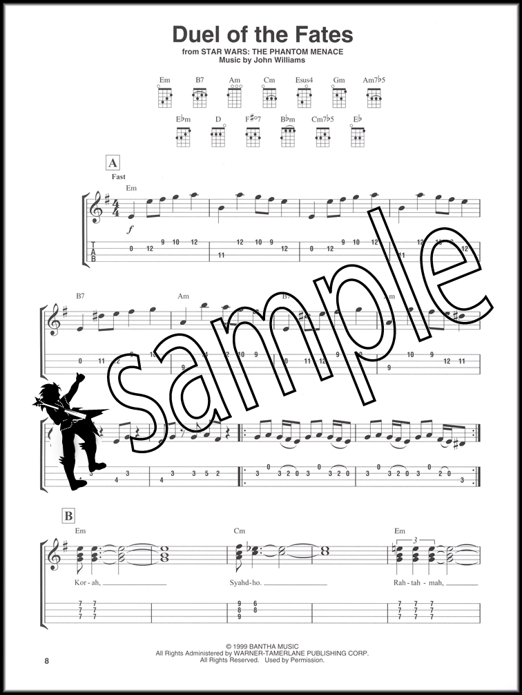 All Music Chords star wars cello sheet music : Star Wars for Ukulele Notes & TAB Music Book Episode I III IV V VI ...