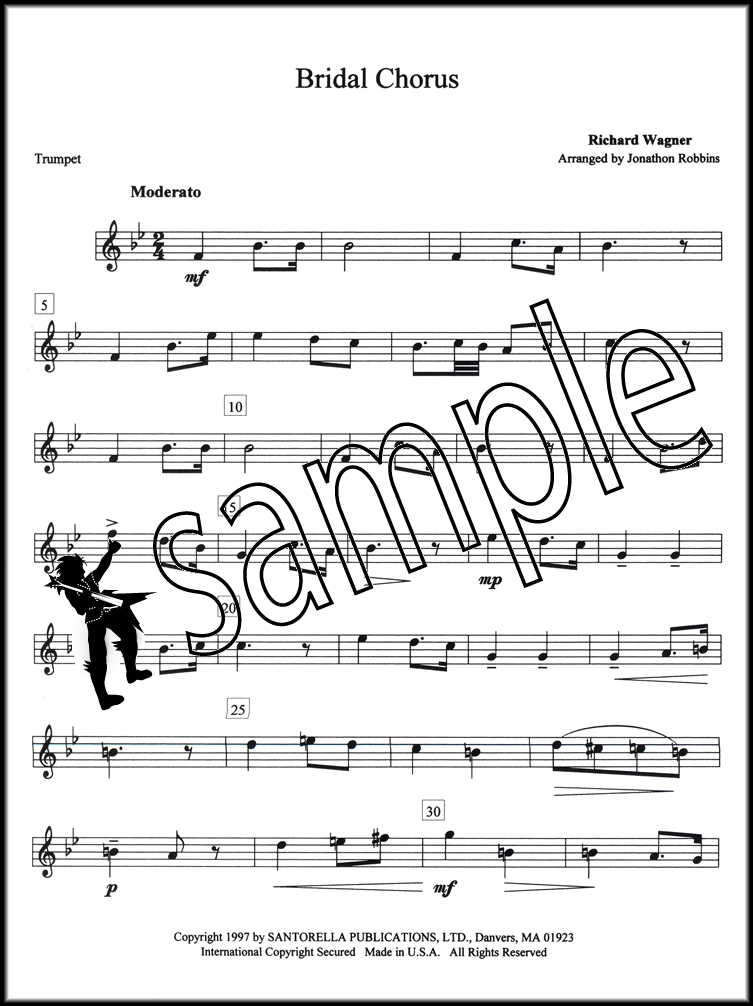 Piano piano and trumpet duet sheet music : Bridal Chorus & Wedding March Trumpet & Piano | Hamcor