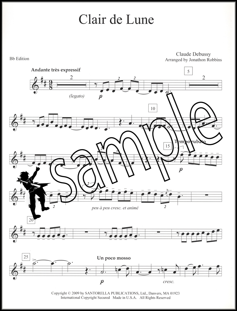 Piano piano and trumpet duet sheet music : Clair de Lune Trumpet & Piano | Hamcor
