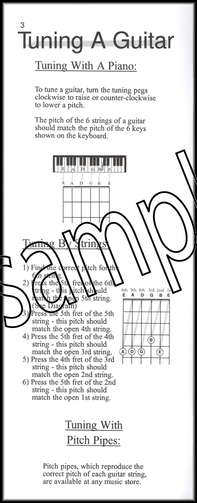 Basic Guitar Chords Case Style Santorella Picture Bar Scale Chart ...