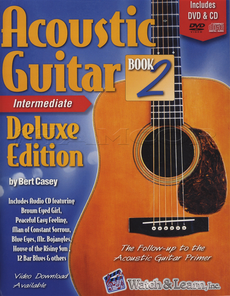 Acoustic Guitar 2 Intermediate Deluxe TAB Music Book with DVD & CD ...