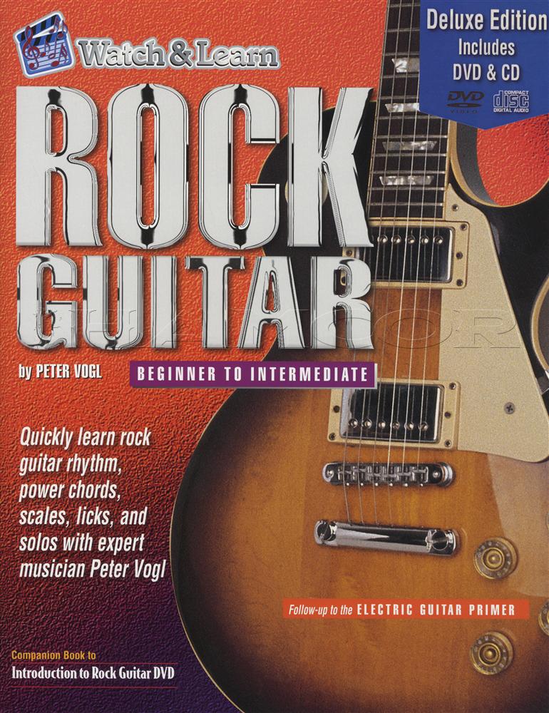 Rock Guitar Beginner To Intermediate Deluxe Tab Music Book With Dvd