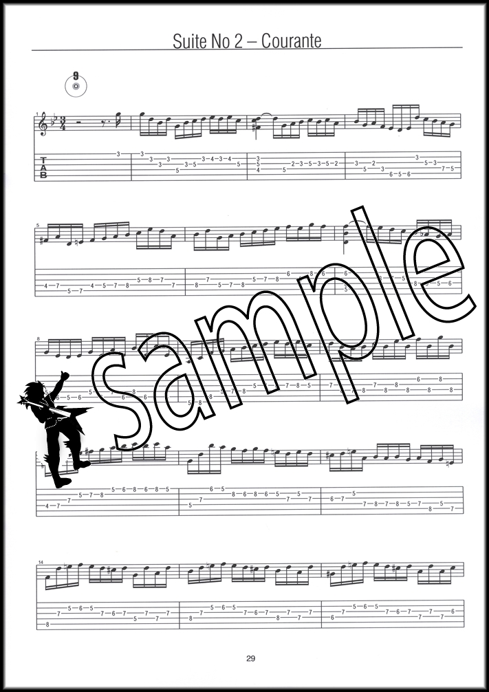 Guitar bach cello suite 1 guitar sheet music : J S Bach on the Guitar TAB Music Book with CD Cello Suites ...