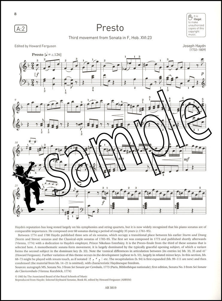 ABRSM Piano Exam Pieces 2017 2018 Syllabus Grade 7 Sheet Music ...