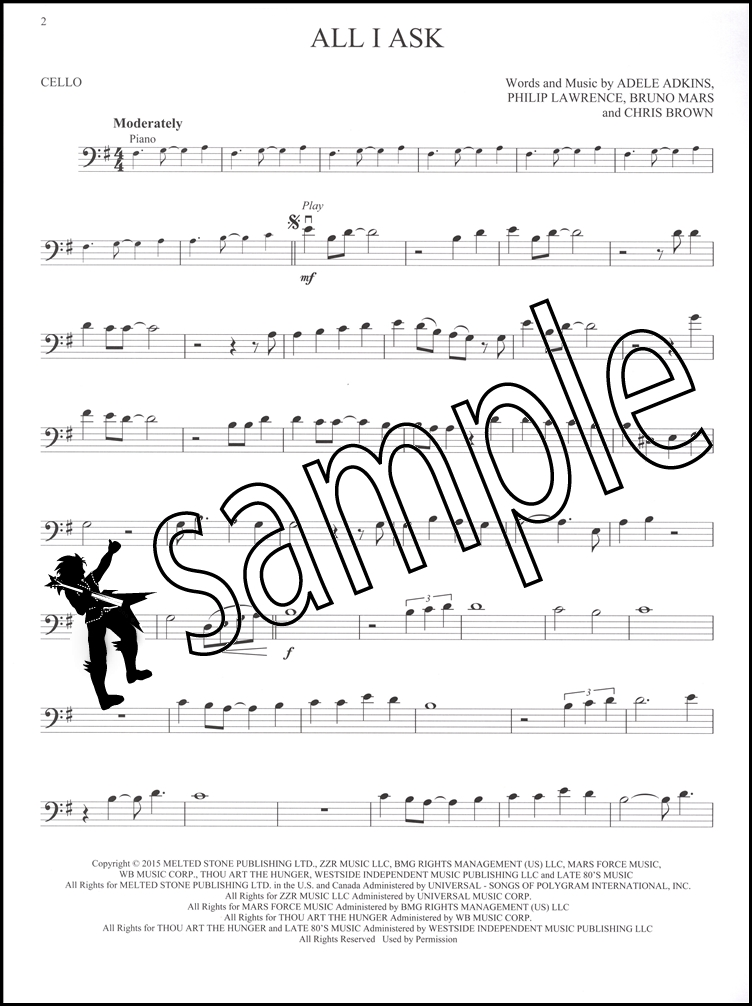 Adele Instrumental Play-Along for Cello Sheet Music Book with ...