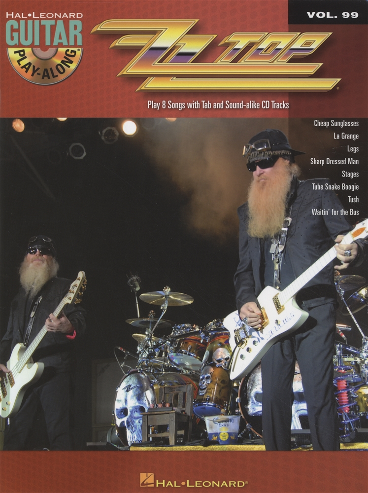Zz Top Guitar Play Along Tab Music Book With Cd Rock Sharp Dressed