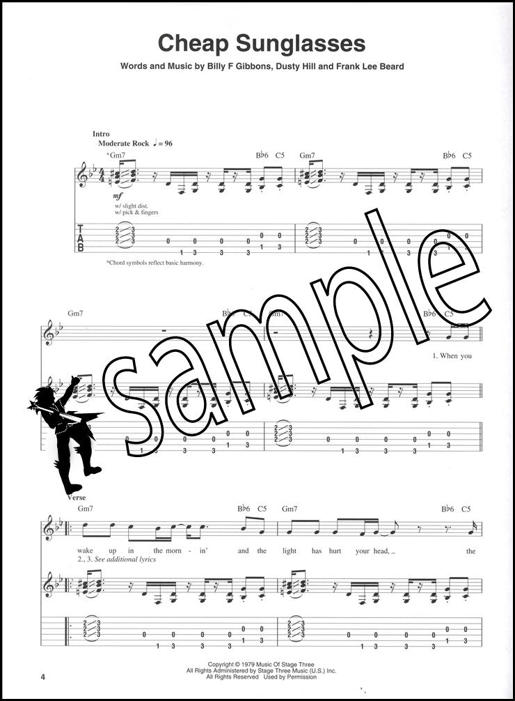 ZZ Top Guitar Play-Along Book/CD   Hamcor