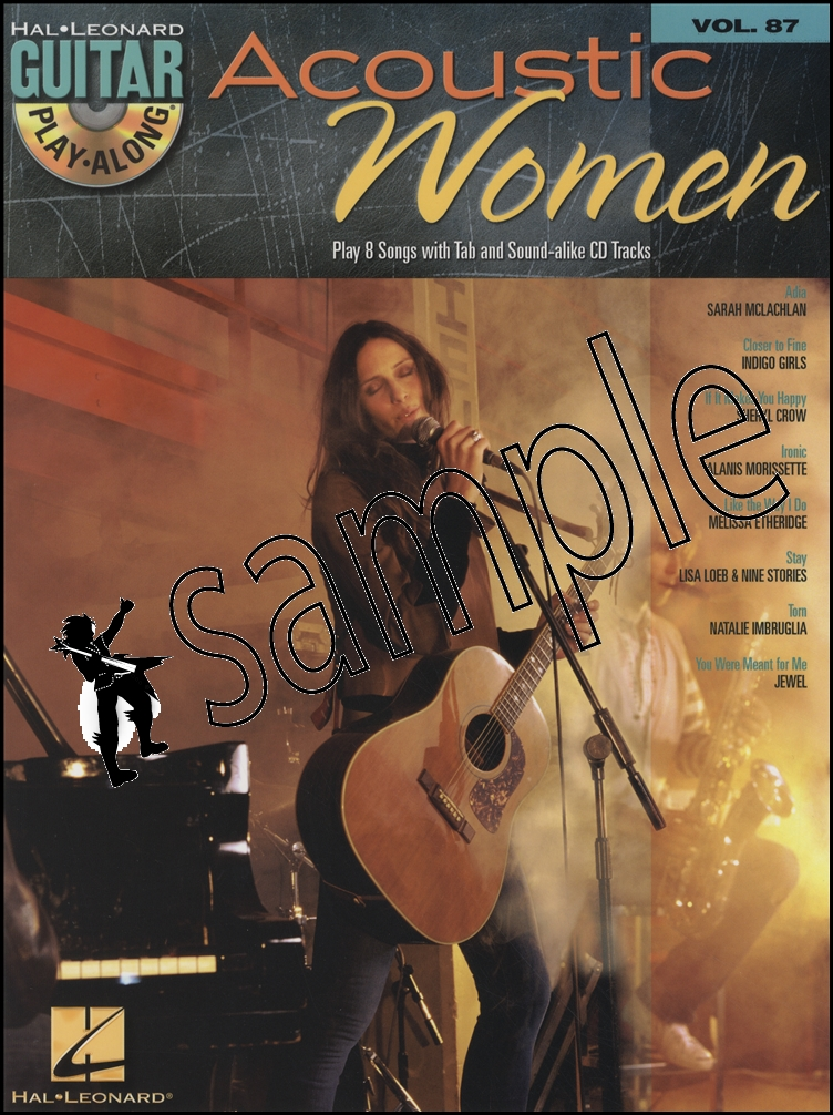 Acoustic Women Guitar Play Along Tab Music Book With Cd Jewel Sheryl