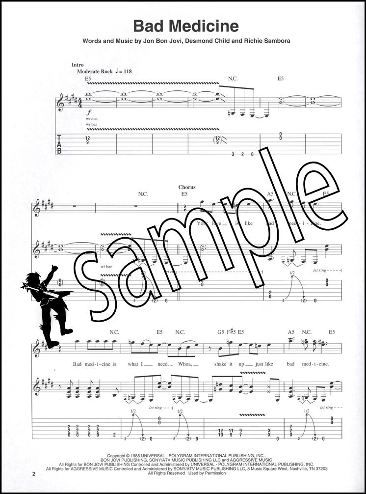 All Music Chords runaway sheet music : Bon Jovi Guitar Play-Along TAB Music Book with CD Runaway Bad ...