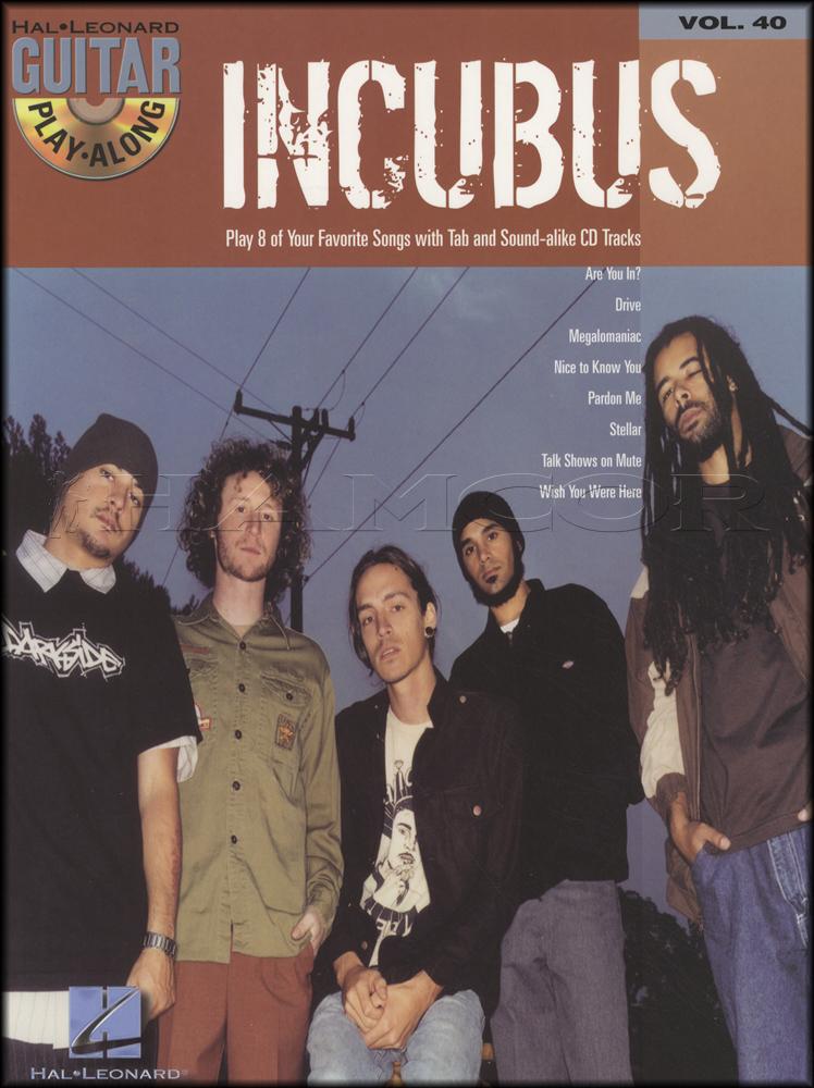 Incubus Guitar Play Along Bookcd Hamcor